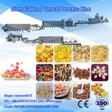 CE SS 22KW 150kg/h corn flakes machinery/ twin screw extruder corn flacks production line /corn chips processing line for sale